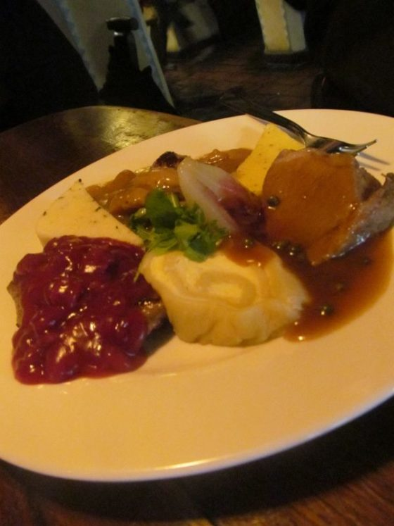 A traditional Slovenian meal at Gostlina Sokol