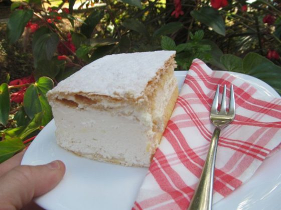 Lake Bled Cream cake was one of our favorite Slovenian food
