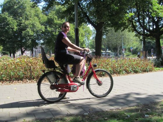 Me riding the bike in Amsterrdam