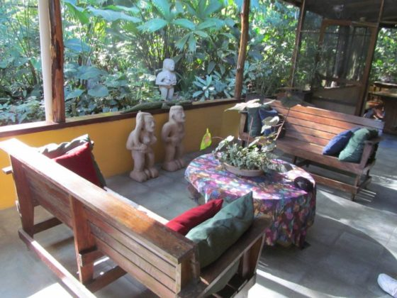 The lobby at the Casa Rio Blanco Eco Lodge
