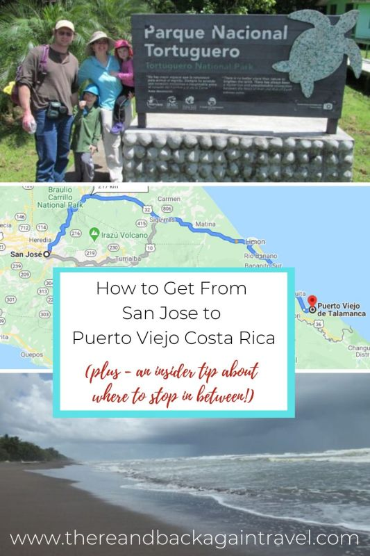How to get from San Jose to Puerto Viejo (pinnable image)