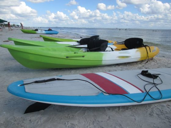 Kayaks and Paddle Boards available at our resort