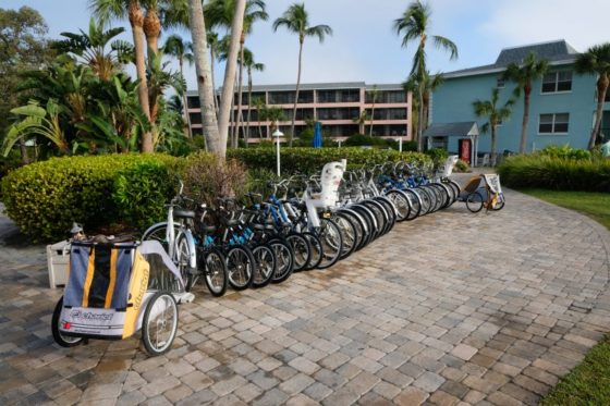 Bikes available at out resort on Sanibel Island